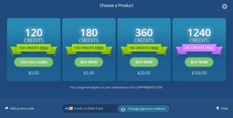 Credit card purchase rates on Flirt4Free