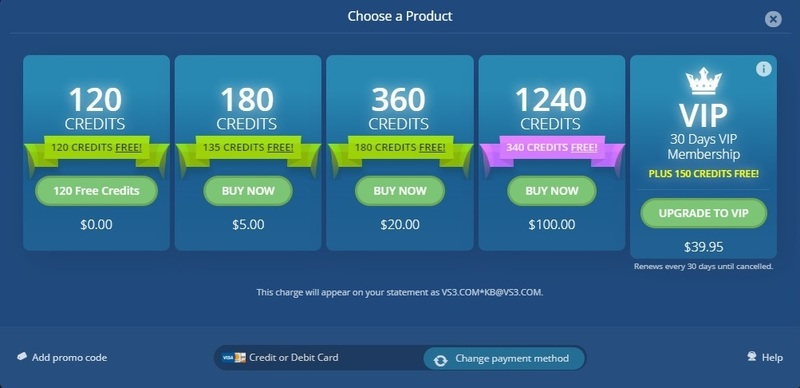 The cost of credits for new members on Flirt4Free