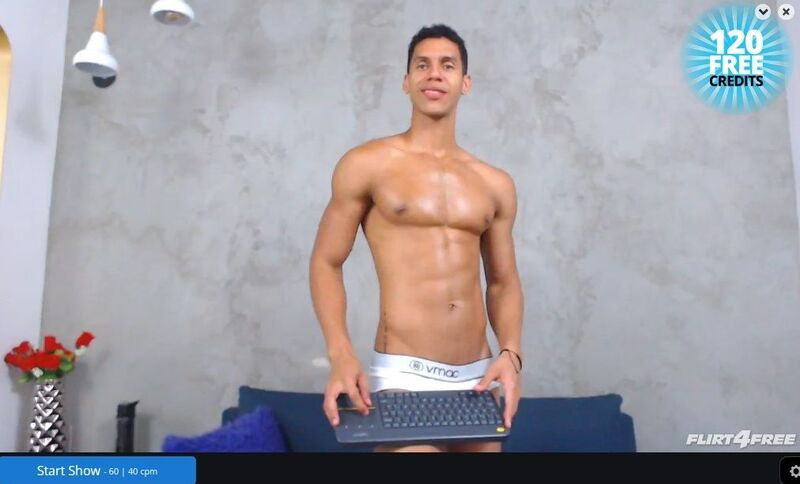 Stunning gay model showing off his assets in HD on Flirt4Free