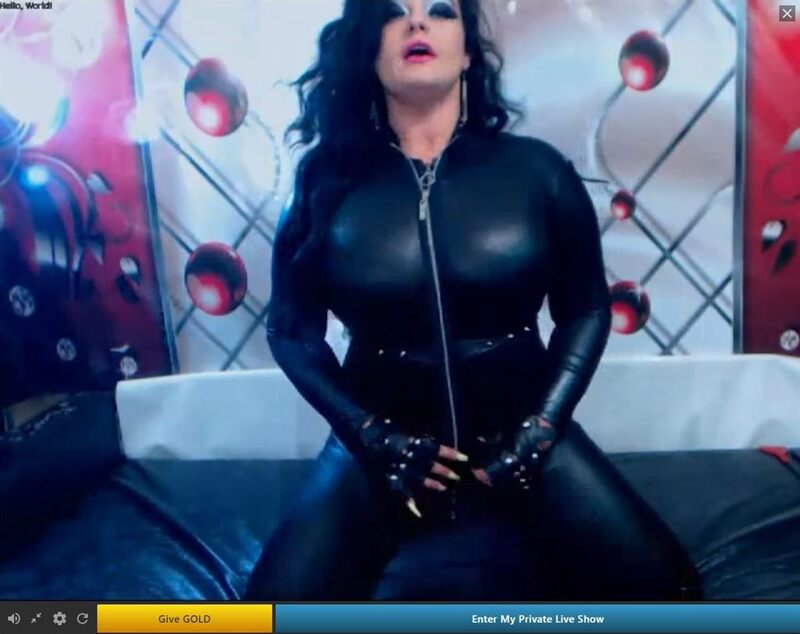 One of Streamate.com's sexy fetish models, showing off her latex.