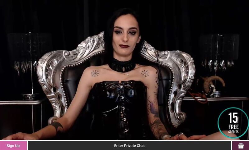 Dominatrix willing her members to tip on FetishGalaxy